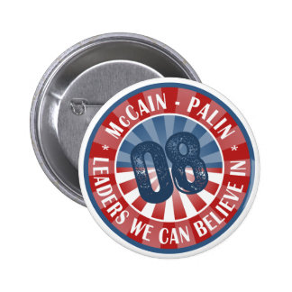 McCain Palin Leaders we can believe in 6 Cm Round Badge