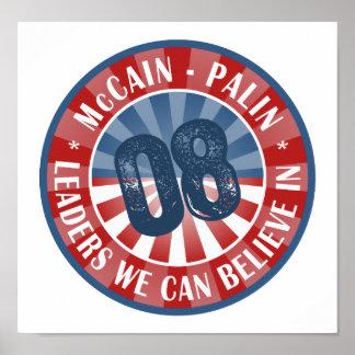 McCain Palin Leaders we can believe in Posters