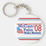 McCain Palin Make History '08 Keychain