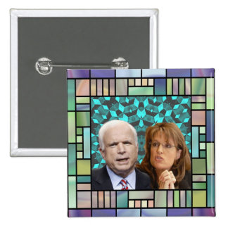 McCain/Palin Mosaic Square Button