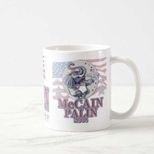 McCain Palin Republican Elephant Coffee Mug