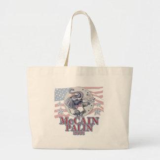 McCain Palin Republican Elephant Jumbo Tote Bag