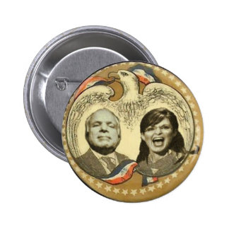 McCain/Palin Retro Eagle Button