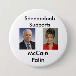McCain Palin Shenandoah 7.5 Cm Round Badge