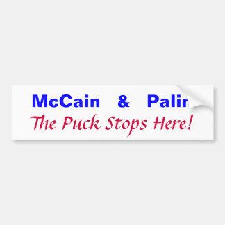 McCain   &   Palin, The Puck Stops Here! Car Bumper Sticker