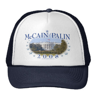 McCain Palin White House 2008 Cap