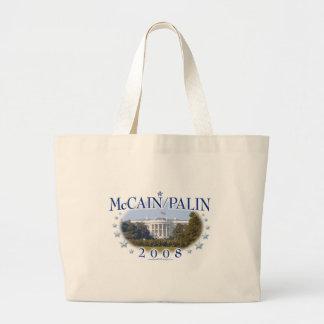 McCain Palin White House 2008 Jumbo Tote Bag