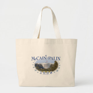 McCain Palin White House 2008 Large Tote Bag