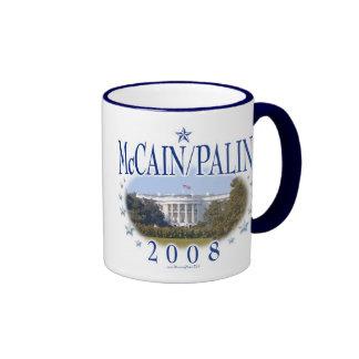 McCain Palin White House 2008 Ringer Coffee Mug
