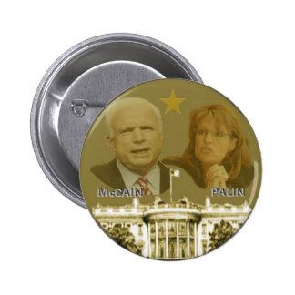 McCain / Palin White House Button
