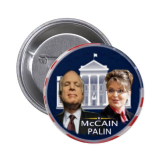 McCain/Palin White House Button