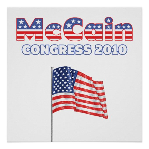 McCain Patriotic American Flag 2010 Elections Posters