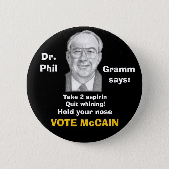 McCain/ Phil Gramm Button