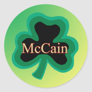 McCain Shamrock Stickers