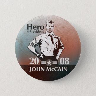 McCain Vintage Style, Hero. 6 Cm Round Badge
