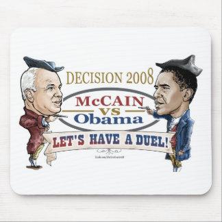 McCain vs Obama Duel Mouse Pad