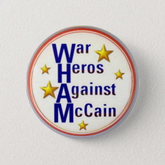 McCain War Heros Button