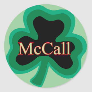 McCall Family Round Sticker