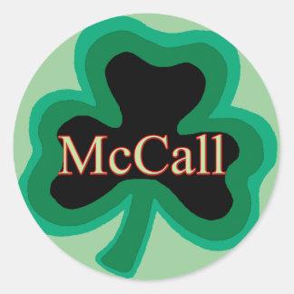 McCall Family Round Sticker