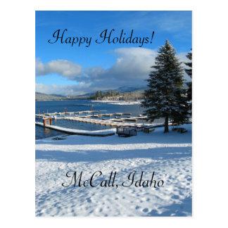 McCall, Idaho Holiday greetings Postcard