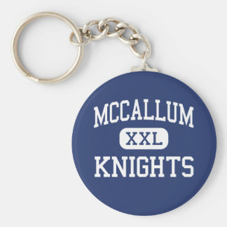 McCallum - Knights - High School - Austin Texas Basic Round Button Key Ring