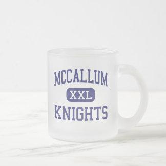 McCallum - Knights - High School - Austin Texas Frosted Glass Mug
