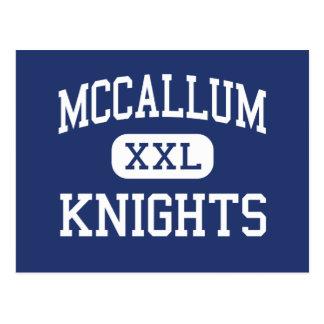 McCallum - Knights - High School - Austin Texas Postcard