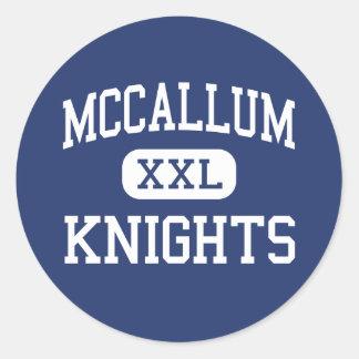 McCallum - Knights - High School - Austin Texas Round Sticker