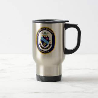 McCAMPBELL travel mug with hellcat insignia, crest