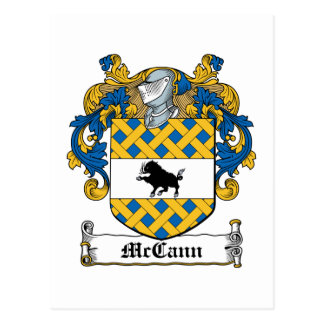 McCann Family Crest Postcard