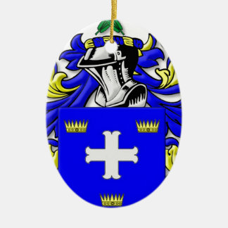 McCarter Coat of Arms Ceramic Oval Decoration