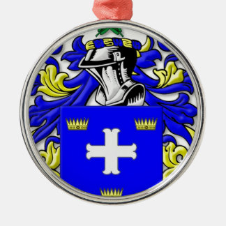 McCarter Coat of Arms Silver-Colored Round Decoration