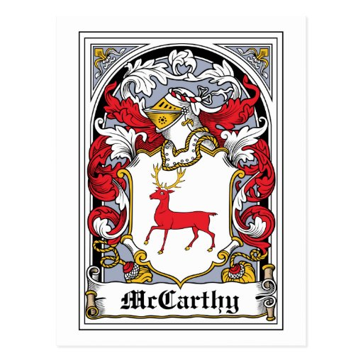 McCarthy Family Crest Postcards