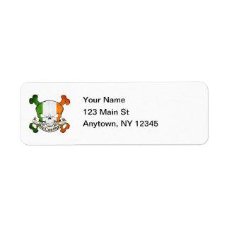 McCarthy Irish Skull Return Address Label