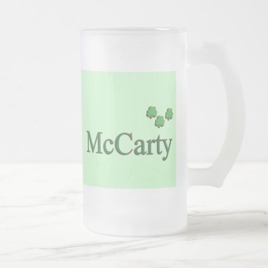 McCarty Family Frosted Glass Beer Mug
