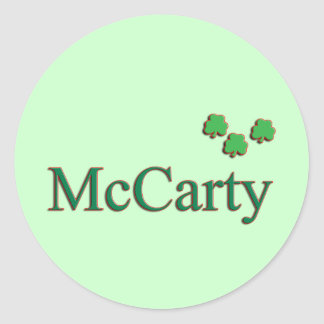 McCarty Family Round Sticker