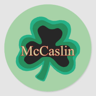 McCaslin Family Round Stickers
