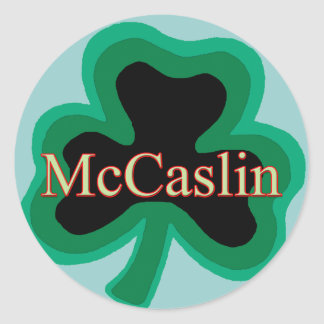 McCaslin Family Classic Round Sticker