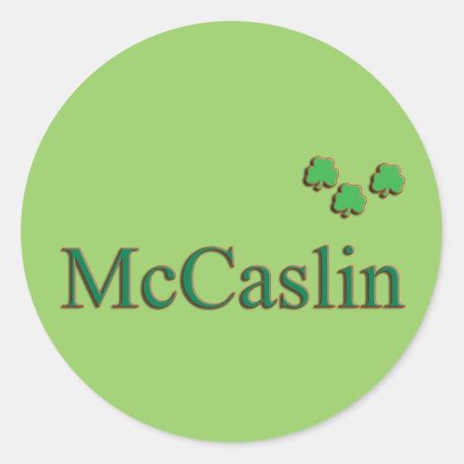 McCaslin Family Round Sticker