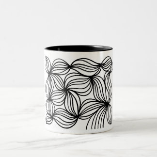 Mccaul Abstract Expression Black and White Two-Tone Mug