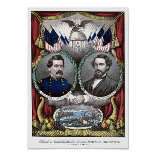 McClellan and Pendleton Campaign Poster