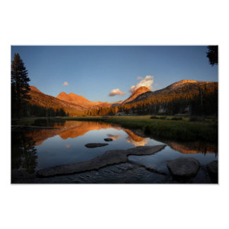 McClure Meadow Sunset Alpenglow - John Muir Trail Poster