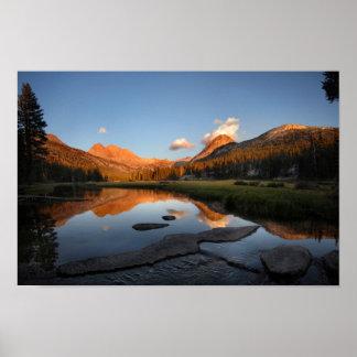 McClure Meadow Sunset Alpenglow - John Muir Trail Poster