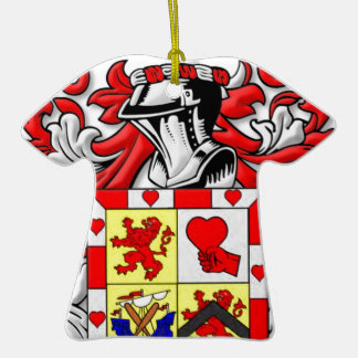 McComas Coat of Arms Double-Sided T-Shirt Ceramic Christmas Ornament