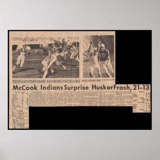 McCook JC  Wins over Nebraska Frosh in 1969 21-13 Poster