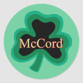 McCord Family Round Sticker