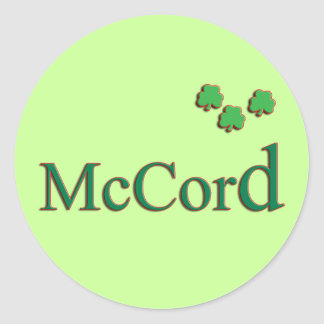 McCord Family Stickers