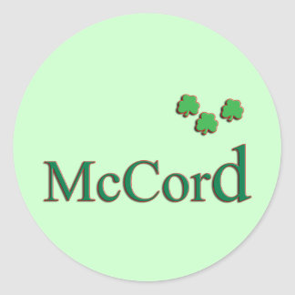 McCord Family Round Stickers