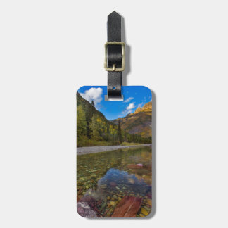 McDonald Creek in autumn with Garden Wall Luggage Tag