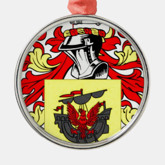 McDonald (English) Coat of Arms Silver-Colored Round Decoration